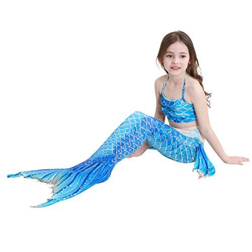 Das beste Mädchen Meerjungfrauen Bikini Kostüm Meerjungfrau Schwimmanzug Badeanzüge Tankini (130, Neuer Stil 11)