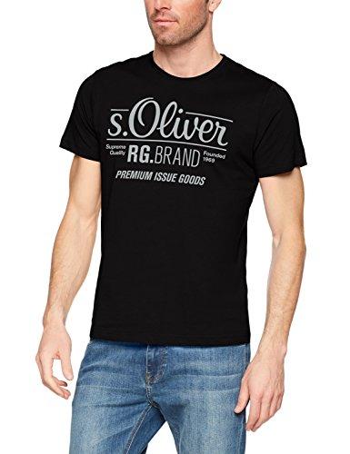 s.Oliver Herren T-Shirt Onllive Love Trendy Stripe SS Oneck Noos, Schwarz (Black 9999), X-Large
