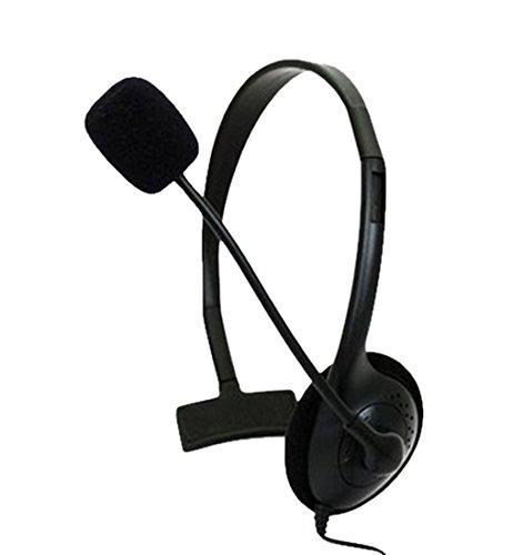 Kmd Live Chat Headset mit Mikrofon Headset für Microsoft Xbox 360, Schwarz Klein