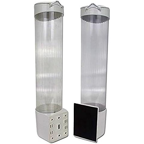 Dispensador de vasos magnético para filtrado de agua, color blanco-icebergfresh ®-ICEF-176