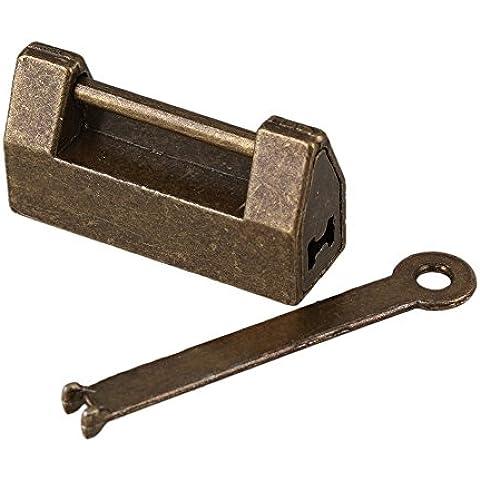 BQLZR bronzy 2Mini, cinese antico lucchetto Jewelry Box lucchetto vecchio stile hardware - Antichi Da Collezione Delle Fotografie