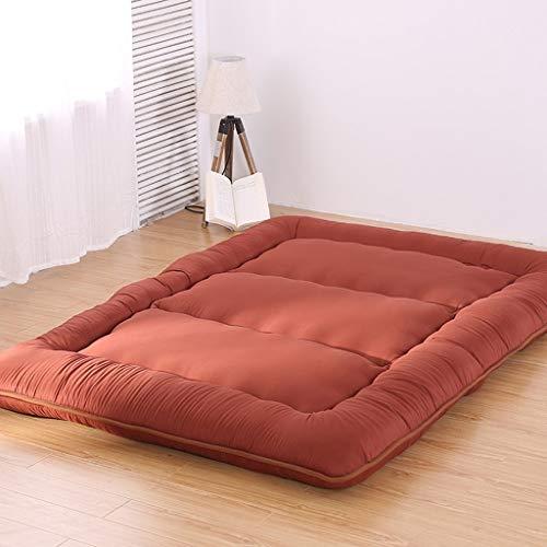 Full-futon-matratze (HiiGlife Schlafen Tatami Bodenmatte Faltbare Futon Tatami Matratze weiche Dicke japanische Studentenwohnheim Matratze Pad (Color : Brown, Size : Full))