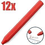 Dicoal 136-Kreide Spiel ohne Etikett Sechskant Durchmesser 12x 120mm rot (12U)