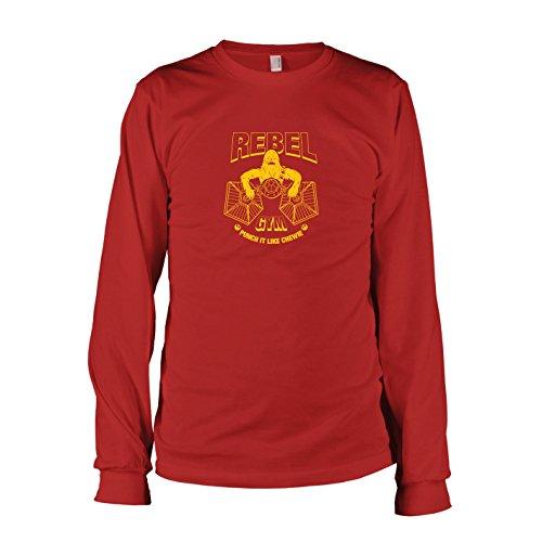 TEXLAB - Rebel Gym - Herren Langarm T-Shirt, Größe XXL, rot