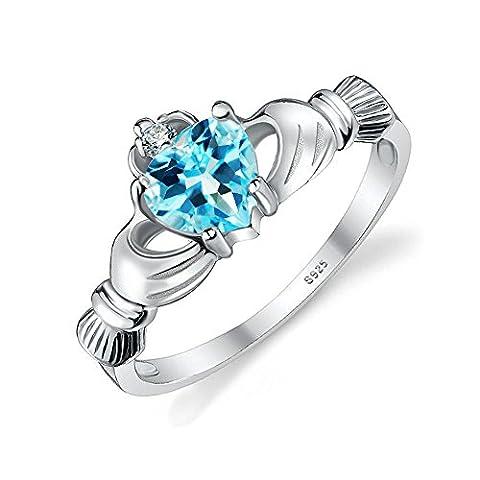 JewelryPalace 0.55ct Jolie Coeur Bague de Fiançailles Femme Alliance Mariage