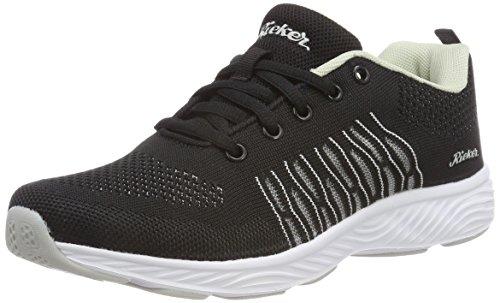 Rieker Damen N9200 Sneaker, (Schwarz-Grau), 39 EU