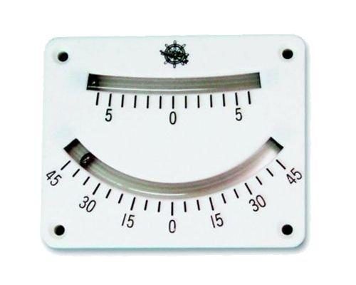 Krängungsmesser doppelt mit Lupe 0 bis 45°