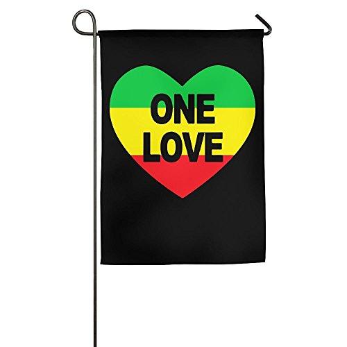Galaxy 'ss; Flagge One Love Rasta Farben Herz Custom Outdoor/Home Garten Flagge als Geschenk