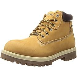 Skechers SergeantsVerdict - Botas de cuero para hombre, color beige (beige (wtn)), talla 44