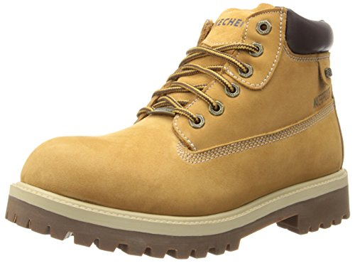 Skechers Men's Sergeants Verdict Rugged Ankle Boot,Wheat,US 14 W (Boots Ankle Eyelet)
