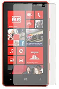 3 x Membrane Screen Protectors for Nokia Lumia 820 - Crystal Clear (Glossy), Retail Package, Installation Kit