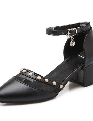 WSS 2016 Chaussures Femme-Mariage / Habillé / Décontracté / Soirée & Evénement-Noir / Rose / Blanc-Gros Talon-Talons-Talons-Similicuir pink-us8 / eu39 / uk6 / cn39