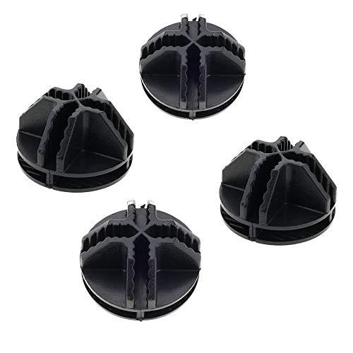 PrimeMatik - 4 Paket Stecker schwarz für Schuhschrank Stufenregal Modular Garderobenschrank Kubus...