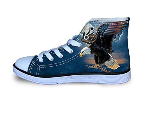 Mens Boys School Casual Shoes Canvas Hi Top Plimsolls Comfy Walking Sneakers Eagle UK 11.5