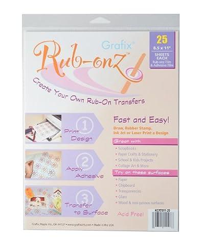 Grafix clair Rub-onz 8–1/5,1cm par 27,9cm Inkjet-Laser film