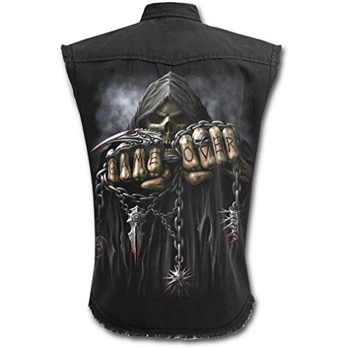 Spiral - Canottiera Worker camicia personificata - Game Over gilet nero M