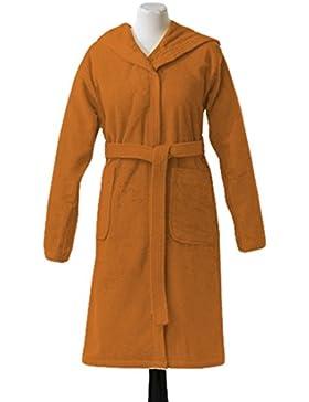 Essix Home Collection Albornoz con capucha (edad 12/14 años, algodón), color naranja