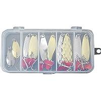 LoveOlvidoE Fishing Hook, Fishing Lure Set,11Pcs Fishing Hooks Plastic Box, Fishing Accessories Kit, Fish Hook Fishing Hooks Set
