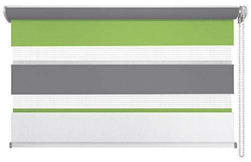 mydeco 66134Klemmfix–Estor Doble (Just, 60x 160cm, Fresco Verde/Gris, Verde, 140 x 160 cm