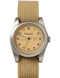 Bertucci h13320Unisex titanio patrimonio patrulla marrón banda de nylon color beige Dial reloj