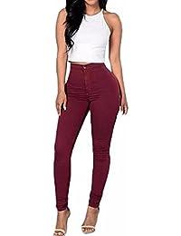 ZANZEA Femme Pantalons 5 Couleurs Sexy Taille Haute Pencil Slim Legging Skinny Stretch Leggings Crayon Pants