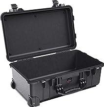 PELI 1510 valise à roulettes de protection robuste pour le voyage et l'extérieur, étanche à l'eau et à la poussière IP67, capacité de 27L, fabriquée en Allemagne, sans mousse, couleur: noire