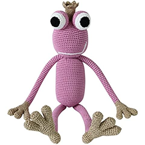 King Froggy–Punto de Príncipe Rana (Acero, plástico animales de peluche, Baby regalo)