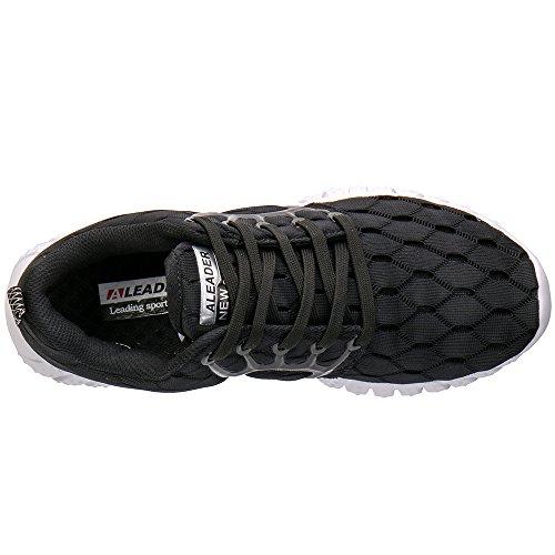 Aleader, scarpe da corsa e per lo sport leggere, in rete, da donna Nero (nero)