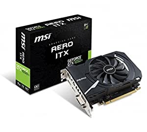 MSI NVIDIA GTX 1050Ti Aero 4G OC 4 GB GDDR5 Memory DP/DVI/HDMI PCI Express Graphic Card - Black