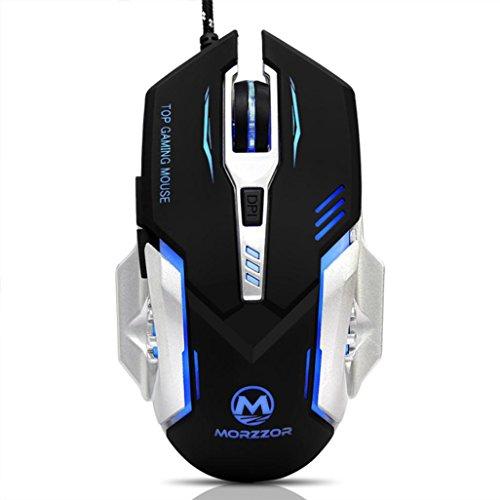 78616451f54a Doublelift 3200 dpi 6d Boutons LED filaire mécanique Gaming Mouse pour  ordinateur portable PC noir