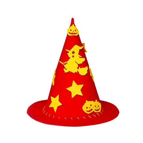 Amosfun cappelli da festa di halloween fai da te in lana decorazione per cappelli da strega costumi di halloween cappello cosplay