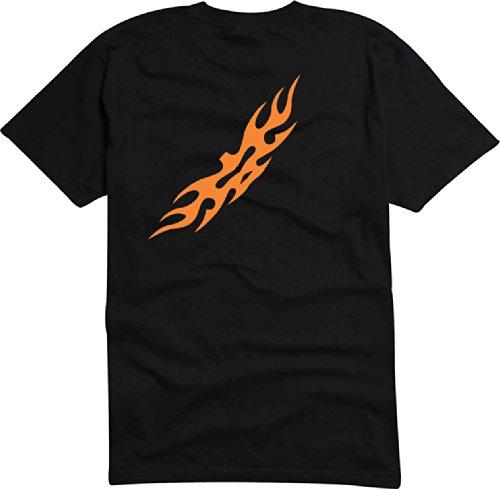 T-Shirt Herren Tribal dim feuer Schwarz
