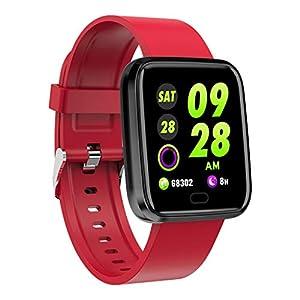 ❄ CarJTY Smart Watch ❄ Sport Fitness Aktivität Herzfrequenz Tracker Blutdruck Uhr Super wasserdichte Multifunktions-Touchscreen-Uhr