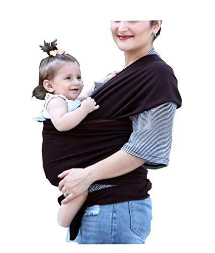 B&B Premium Baby Carrier Cozy & Beruhigendes für Babys Wickeltrage für Baby Wickeltrage aus Bio-Stretch-Wickeltasche für Wickler Multifunktionaler TrageriemenTragetuch