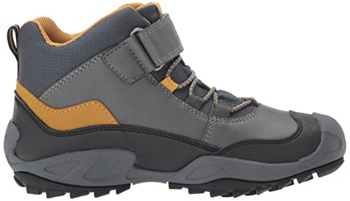 Geox Unisex-erwachsene J New Wild Boy B Abx A Hohe Sneaker Grau (grigio / Dk Giallo)