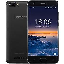 Moviles Libre, DOOGEE X20 Moviles Libres Baratos, 3G Smartphone Android 7.0 - MT6580 mali-400 Quad core - 5.0 Pulgadas HD IPS Pantalla - 16GB ROM - 5MP Cámara - Dual SIM - Batería de 2580mAh (Negro)
