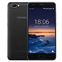 Sim Free Mobile Phones, DOOGEE X20 Dual SIM Unlocked Smartphones, 3G 5.0 Inch HD smart Phone with Android 7.0 - MT6580 - 16 GB Rom - Dual Rear Cameras 5.0MP + 5.0MP Smartphone - 2580mAh - Bluetooth - GPS - Black