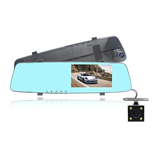 WUQIAN 4,3 Zoll Auto Spiegel Video Recorder 1080P Front- und Rückkamera für Auto (Spiegel-auto-video-recorder)