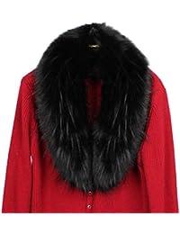 Kairuun Donna Collo Sciarpa Invernale Calda in Pelliccia Sintetica Elegante  e Staccabile Multicolore Opzionale 07fe4f9d2fb