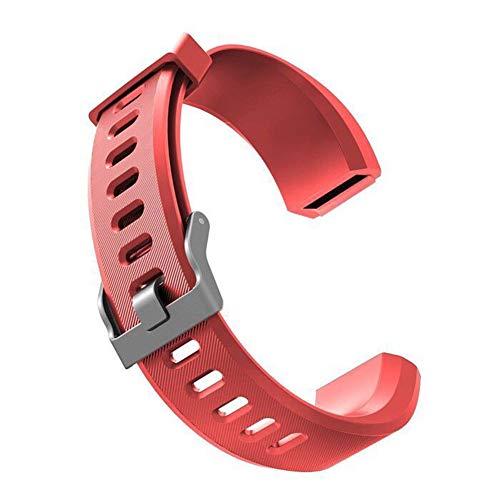 Sguan-wu Silikon Ersatz Smart Armband Band Handschlaufe für Veryfit ID115 ID115Plus - für Veryfit ID115Plus Rot
