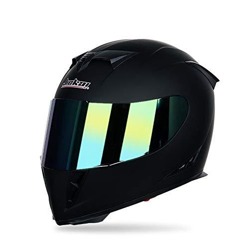 Motorrad Modular Full Face Helm Flip hoch Dual Visier Sun Shield, Persönlichkeit Clown Malerei Dirt Bike Vier Jahreszeiten Motorrad Racing Helm,Black,M (Helm Modulare Dual-visier)