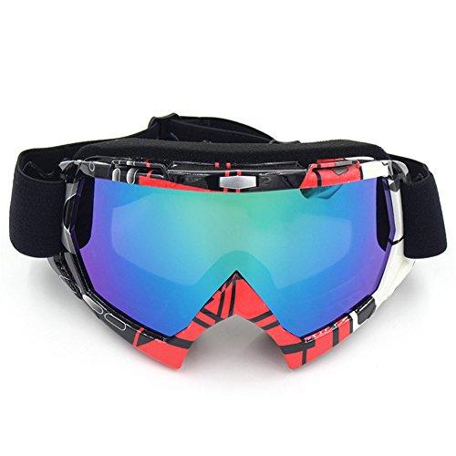 Spohife, occhiali da moto polarizzati, unisex, anti uv, antipolvere, anti graffio, antivento, occhiali sportivi per sci, ciclismo, arrampicata, motocicletta, sport all'aperto, red