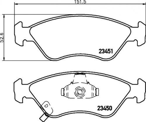 Preisvergleich Produktbild Textar 2345001 Bremsbelagsatz, Scheibenbremse