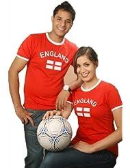 BRUBAKER England Fan T-Shirt Rot Gr. S - XXXL