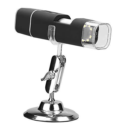 Akozon Microscopio Elettronico WiFi USB 1000X 2MP Magnifier LCD a Fornire Immagini Statiche per iPhone/Android