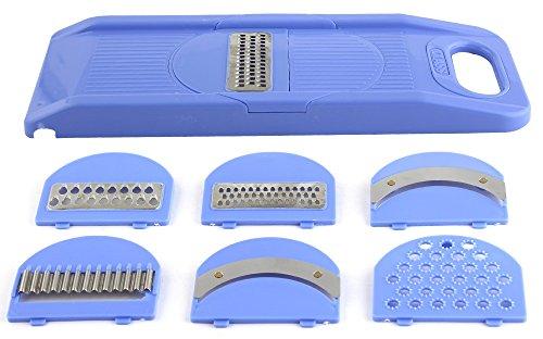 Magikware Vegetable Slicer Dicer Grater Cutter, 6-Piece (Blue)
