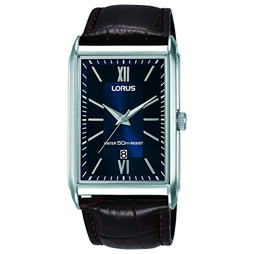 Lorus Mens Analogue Classic Quartz Watch with Leather Strap RH911JX9 Best Price and Cheapest