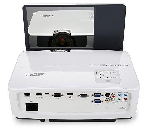 Acer U5220 DLP 3D Ultra Short Throw Projector  XGA  3000 lm  13000 1  HDMI  RJ45  2 x 10 W  Includes Wall Mount Kit