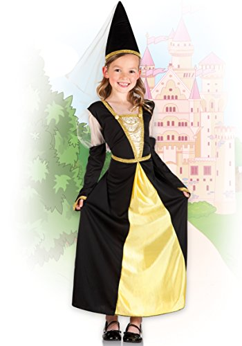 Boland 82232 – Kinderkostüm Lady Isolde, schwarz - 4