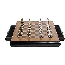 Tao Ajedrez Internacional, Tablero de ajedrez Decoración Suave Adornos Aleación de Zinc Piezas de ajedrez